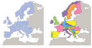 Mapa de Europa ilustração do vetor