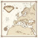 Mapa de Europa Fotografia de Stock Royalty Free