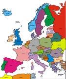 Mapa de Europa Foto de archivo libre de regalías
