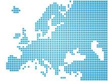 Mapa de Europa Imagen de archivo libre de regalías