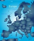 Mapa de Europa Imagem de Stock