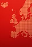 Mapa de Europa Fotografia de Stock