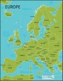 Mapa de Europa Fotos de Stock Royalty Free