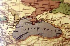 Mapa de Europa del vintage con el foco en el Mar Negro Fotografía de archivo libre de regalías