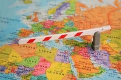 Mapa de Europa e de África foto de stock