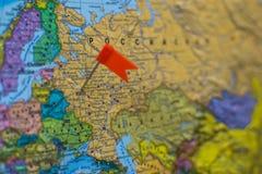 Mapa de Europa e de países do Rússia-anfitrião da FIFA 2018 fotografia de stock royalty free
