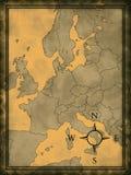Mapa de Europa moderna ilustração royalty free