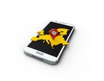 mapa de Europas da aplicação 3d no fundo branco Imagem de Stock
