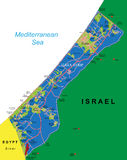 Mapa de Faixa de Gaza Foto de Stock Royalty Free