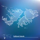 Mapa de Falkland Islands libre illustration