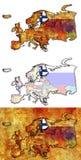 Mapa de finland Imagem de Stock Royalty Free