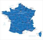 Mapa de França Ilustração Royalty Free