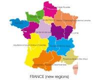 Mapa de França Imagem de Stock