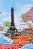 Mapa de França, imagem do conceito do curso Imagens de Stock Royalty Free