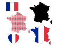 Mapa de France Fotos de Stock Royalty Free