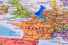 Mapa de France Imagens de Stock
