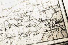 Mapa de France com PARIS Imagem de Stock Royalty Free