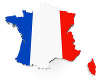 Mapa de Francia Imagen de archivo libre de regalías