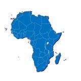 Mapa de África en 3D Imagen de archivo libre de regalías