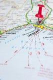 Mapa de Génova Italia Fotografía de archivo libre de regalías