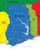 Mapa de Gana Ilustração Stock