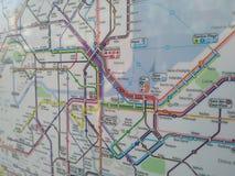 Mapa de Genebra Foto de Stock Royalty Free