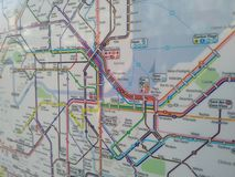 Mapa de Ginebra Foto de archivo libre de regalías