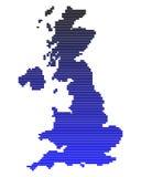 Mapa de Grâ Bretanha Fotos de Stock Royalty Free