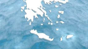 Mapa de Grécia 3d Fotos de Stock