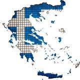 Mapa de Grecia con la bandera dentro ilustración del vector