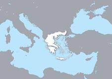 Mapa de Greece Imagens de Stock Royalty Free