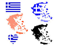 Mapa de Greece Foto de Stock Royalty Free