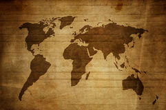 Mapa de Grunge Imagem de Stock