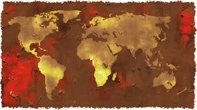 Mapa de Grunge ilustração do vetor