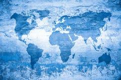 Mapa de Grunge do mundo ilustração do vetor