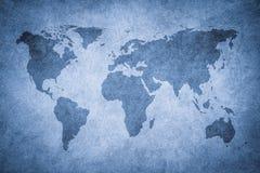 Mapa de Grunge do mundo ilustração stock