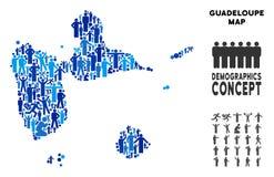 Mapa de Guadalupe del Demographics stock de ilustración