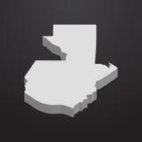 Mapa de Guatemala en gris en un fondo negro 3d Fotografía de archivo