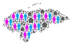 Mapa de Honduras del Demographics libre illustration