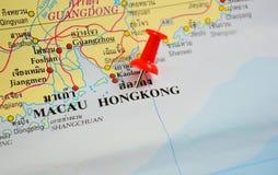 Mapa de Hong-Kong Imagen de archivo libre de regalías