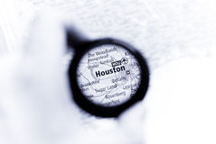 Mapa de Houston Fotos de Stock Royalty Free