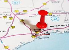 Mapa de Houston los E.E.U.U. Imágenes de archivo libres de regalías