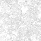 Mapa de Hyderabad, Telangana, visión por satélite, mapa blanco y negro La India ilustración del vector