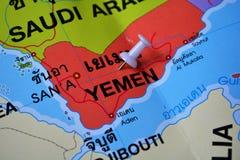 Mapa de Iémen Fotografia de Stock Royalty Free
