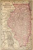 Mapa de Illinois Fotografia de Stock