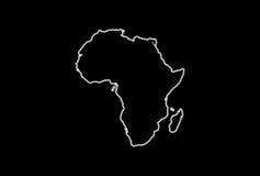 Mapa de incandescência de África Foto de Stock Royalty Free