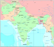 Mapa de India Fotografia de Stock Royalty Free