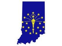 Mapa de Indiana ilustração stock