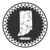 Mapa de Indiana State libre illustration