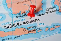 Mapa de Indonésia imagem de stock royalty free